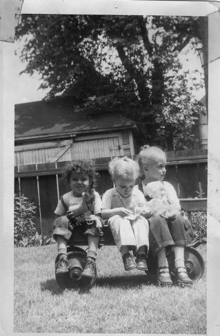 3 in a wagon -1951.jpg