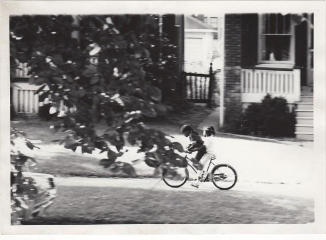 2 girls on bike