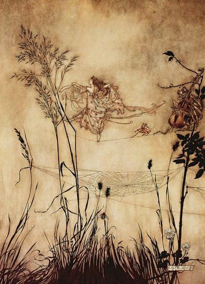 2 spider silk: the-fairys-tightrope-from-peter-pan-in-kensington-gardens-arthur-rackham