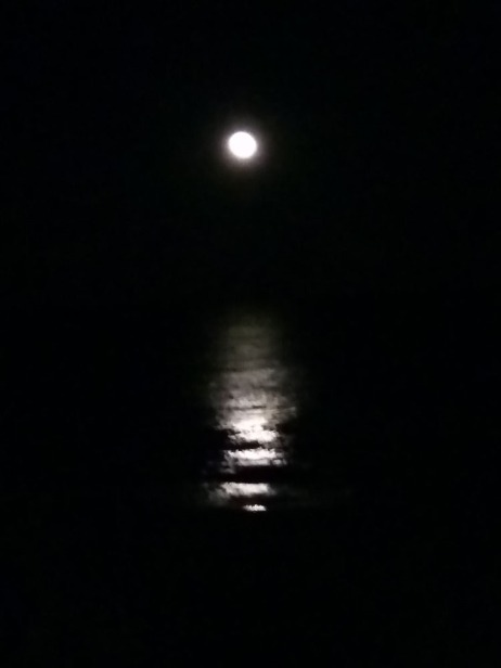 moon over atlantic