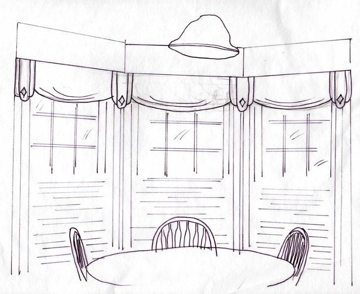 29. kaplan pipier-kitchen-original-sketch